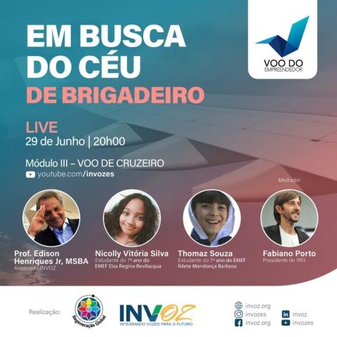 LIVE EM BUSCA DO CÉU DE BRIGADEIRO